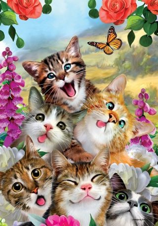 Cat Selfie Flag | Spring Flags | Animal Flags | Cool Flags | Summer Flags