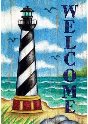 Hatteras Welcome Flag | Summer Flags | Welcome Flags | Two Sided Flag