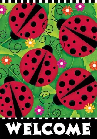 Ladybugs Flag | Welcome Flags | Spring Flags | Double Sided Flags