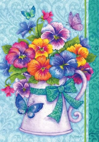 Pansy Pitcher Flag | Spring Flags | Summer Flags | Floral Flags | Cool Flag