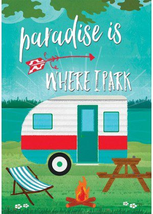 Paradise Camper Flag | Inspirational Flag | Double Sided Flags | Cool Flag