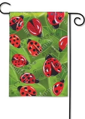 Lucky LadyBugs Flag | Decorative Flag | Garden Flag | Garden House Flag