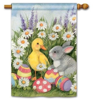 Easter Babies House Flag | Easter Flags | Holiday Flags | Yard Flags