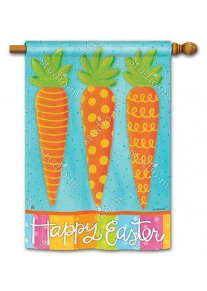 Bunny Delight House Flag | Easter Flags | Double Sided Flags | Yard Flags
