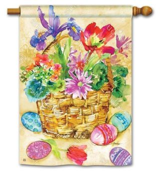 Easter Beauty House Flag   Easter Flags   Holiday Flags   Yard Flags