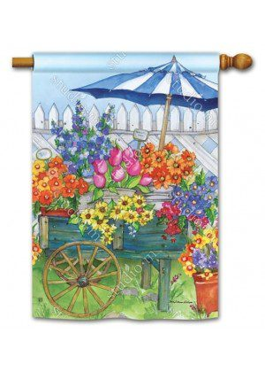 Fresh Picked House Flag   Floral Flags   Spring Flags   Yard Flags   Flags