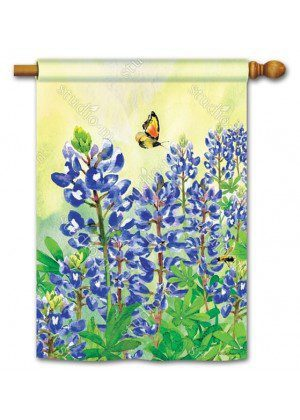 Bluebonnet Dream House Flag | Floral Flags | Summer Flags | Spring Flag