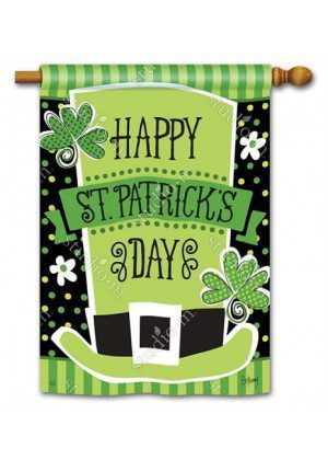 Pats Shamrocks House Flag | St. Patrick's Day Flags | Yard Flags | Flags
