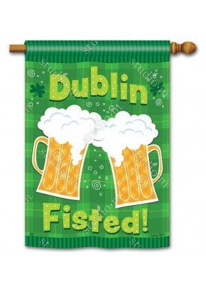 Dublin Fisted House Flag | St. Patrick's Day Flags | Yard Flags | Cool Flags