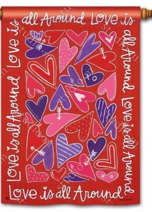 Mix It Up Valentine House Flag | Valentine's Day Flags | Yard Flags | Flags