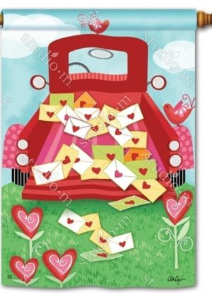 Special Delivery Valentine House Flag | Valentine's Day Flags | Yard Flags