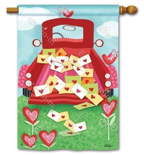Special Delivery Valentine Flag | Decorative Flags | Garden House Flags