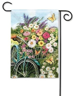 Morning Ride Garden Flag   Floral Flag   Spring Flags   Yard Flags   Flags