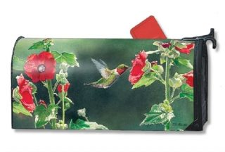 Hummingbird Delight Mailbox Cover | Decorative Mailwrap | Mailbox Cover