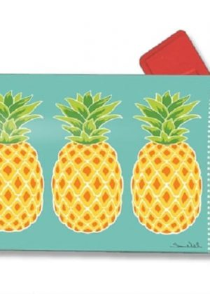 Preppy Pineapple Mailbox Cover | Mailwraps | Garden House Flags