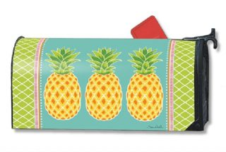 Preppy Pineapple Mailbox Cover | Decorative Mailwraps | Mailbox Covers