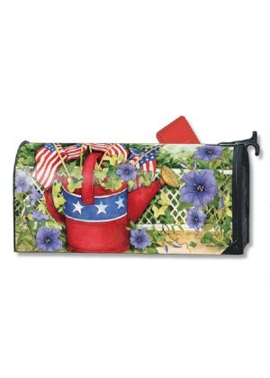 Patriotic Watering Can Mailbox Cover | Mailwraps | Mailbox Covers
