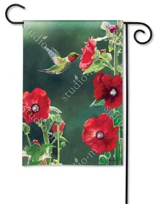 Hummingbird Delight Garden Flag | Bird Flag | Floral Flags | Yard Flags