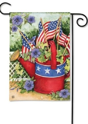 Patriotic Watering Can Garden Flag   Patriotic Flags   4th of July Flags