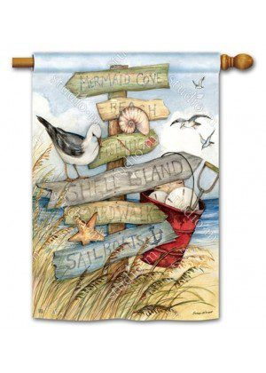 To the Beach House Flag | Beach Flags | Bird Flags | Yard Flag | Cool Flag