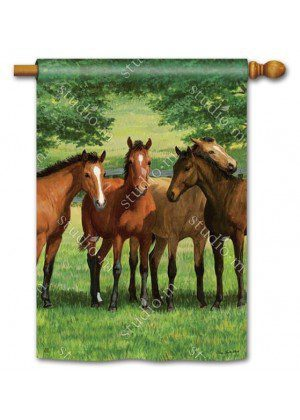 Grazing Time Flag | House Flags | Decorative Flags | Garden House Flags