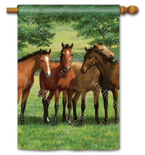 Grazing Time Flag   House Flags   Decorative Flags   Garden House Flags
