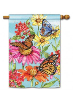 Field of Butterflies House Flag | Floral Flags | Spring Flags | Yard Flags