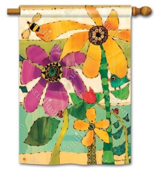 Flower Garden House Flag | Floral Flags | Spring Flags | Yard Flags