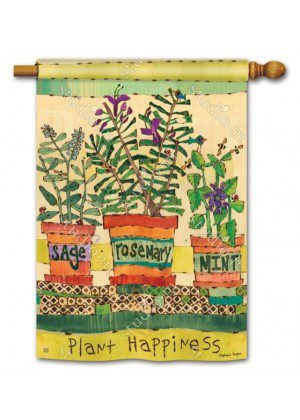 Herb Garden House Flag | Floral Flags | Inspirational Flags | Yard Flags