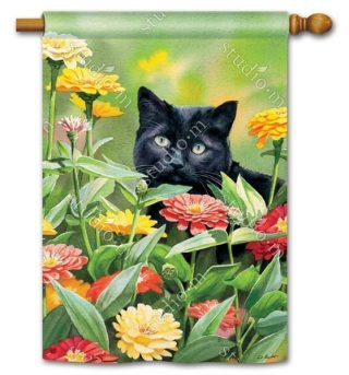 Sweet Fragrance House Flag | Floral Flags | Cat Flags | Spring Flags