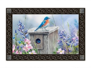 Bluebird Lookout Doormat | Doormats | MatMates | Decorative Doormats