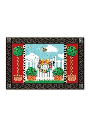 Topiary Gate Doormat | Doormats | MatMates | Decorative Doormats