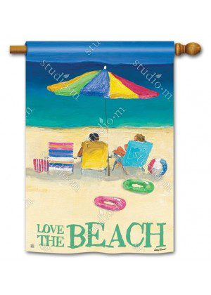 Love the Beach Flag | House Flag | Decorative Flag | Garden House Flags