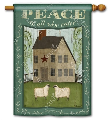 Peace to All Who Enter House Flag