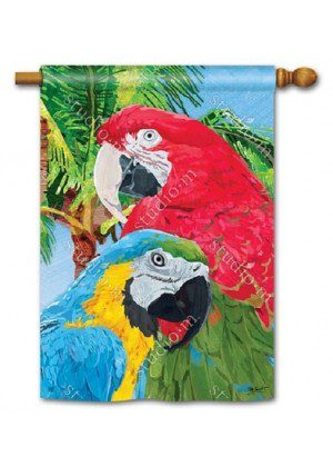 Tropical Beauties House Flag | Bird Flags | Summer Flags | Yard Flags