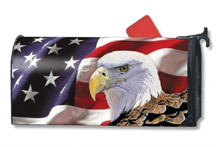 Spirit of Freedom Mailbox Cover   Mailwraps   Garden House Flags