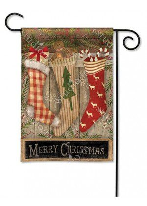 Christmas Stockings Garden Flag | Christmas Flags | Holiday Flags | Flags