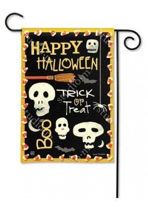 Skeleton Halloween Garden Flag | Halloween Flags | Yard Flags | Flags