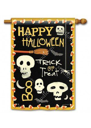 Skeleton Halloween House Flag | Halloween Flags | Yard Flags | Cool Flag