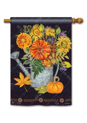 Autumn Pleasures House Flag | Fall Flags | Floral Flags | Yard Flags | Flag