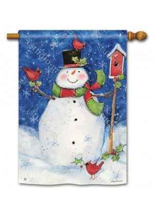 Just Chilling House Flag | Winter Flags | Yard Flags | Snowman Flags