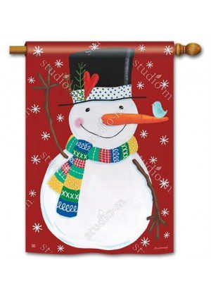 Winter Happiness House Flag | Winter Flags | Snowman Flags | Cool Flags