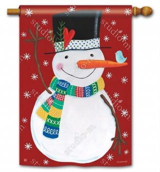 Winter Happiness House Flag | Winter Flags | Snowman Flags | Yard Flags
