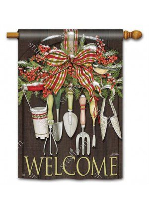 Winter Gardening House Flag | Winter Flags | Yard Flags | Welcome Flags