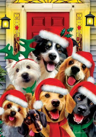 Christmas Dogs Flag | Christmas Flags | Animal Flags | Holiday Flags