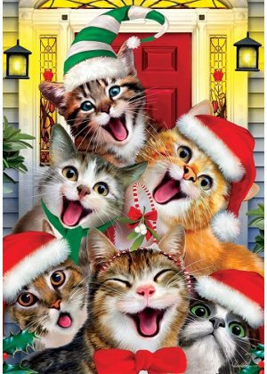 Christmas Cats Flag | Christmas Flags | Holiday Flags | Animal Flags | Flag