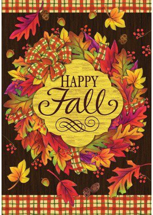 Fall Wreath Flag | Fall Flags | Inspirational Flags | Floral Flags | Cool Flags