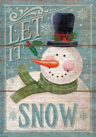 Let It Snowman Flag | Winter Flags | Snowman Flags | Double Sided Flags