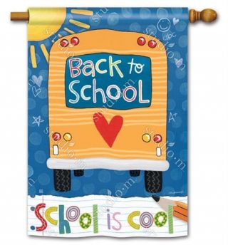 School is Cool House Flag | Spring Flags | Summer Flags | Yard Flags
