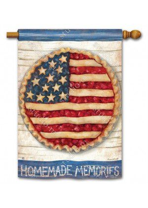 Homemade Memories House Flag | Patriotic Flags | 4th of July Flags | Flag